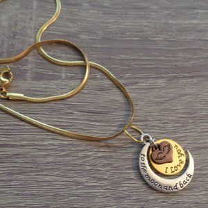"""I love you to the moon and back necklace 19"""""""